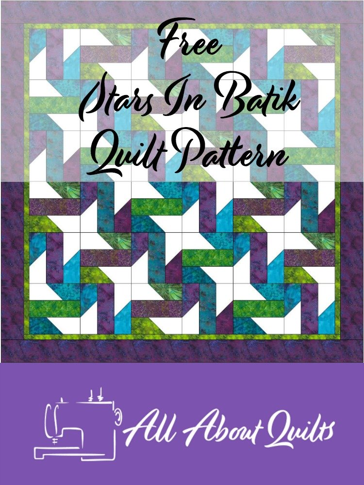 Free Star in Batik quilt pattern