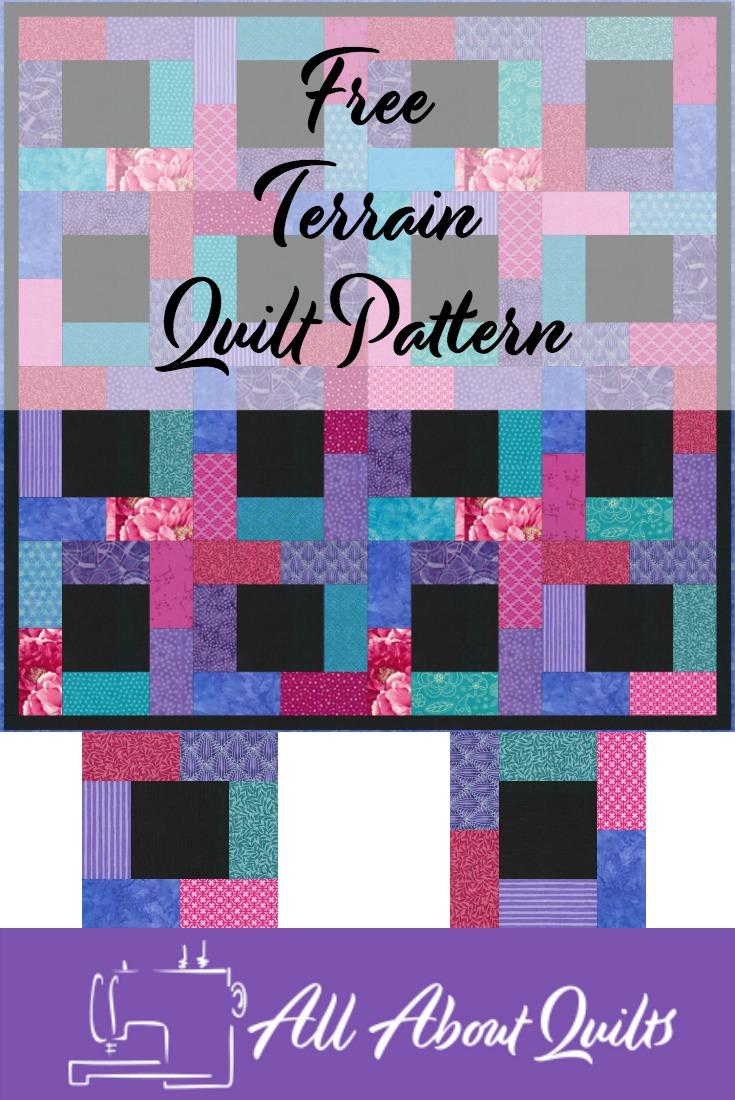 Free Terrain quilt pattern