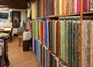 View inside BCN Patchwork shop in Spain
