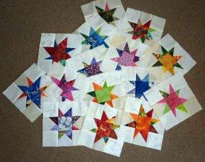 Scrappy star blocks