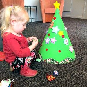 Conical Felt Christmas Tree