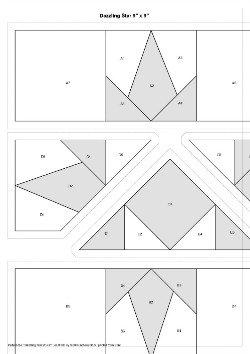 Dazzling Star Block Foundation Piecing Pattern