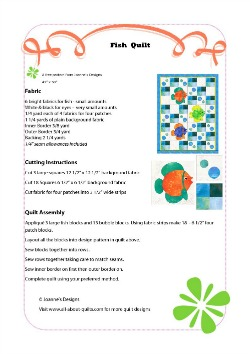 Fish Quilt Pattern