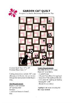 To Garden Cat Quilt Pattern PDF Download