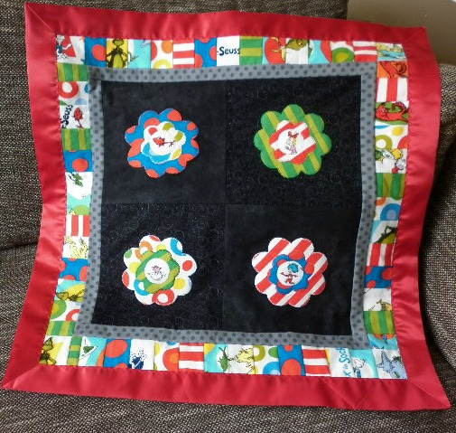 My Satin Edged Rag Quilt