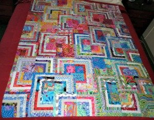Stacking squares quilt
