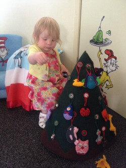 Bella's felt Christmas tree