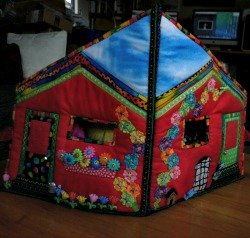 Quilted dolls house