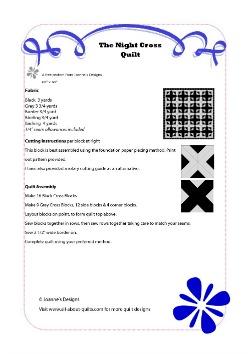 The Night Cross Quilt Pattern